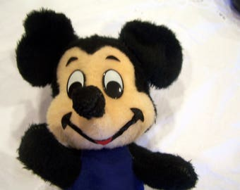 Vintage Mickey Mouse in blue outfit, yellow shoes, Disney, Made in California