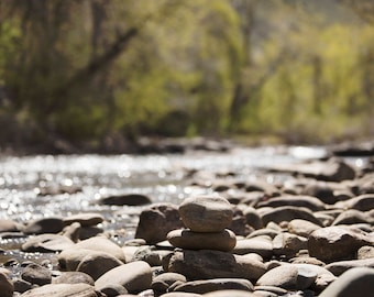 Stacked Stones by Creek/Spring Digital Background/Digital Backdrop/Overlay