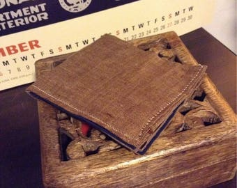 Brown bi-fold wallet