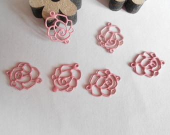 set of 6 prints pink flower