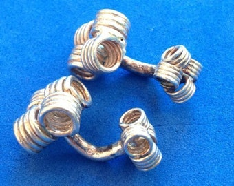 """Vintage! Sterling silver woven design 1/2"""" square cuff links"""