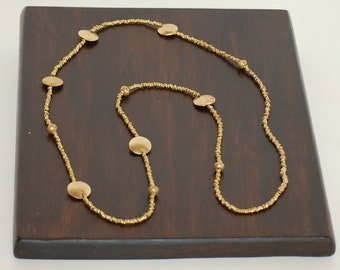 Ethiopian Metal Beads long Necklace