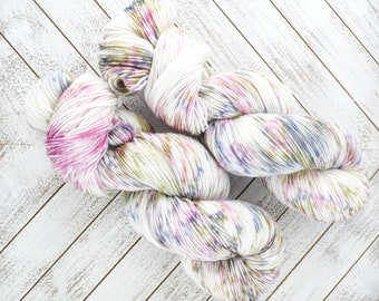 On The Terrace - Hand Dyed Sock Yarn Heavy Fingering Weight 100g Skein 462yds PlumpleBee Base 75/25 Superwash Merino/Nylon