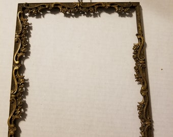 Vintage Victorian Ornate brass Italian Frame 8 x 10 1900s
