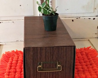 Vintage Office File | Faux Wood Grained Storage Drawer