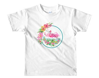 Pink Flamingo Tee Perfect Summer Shirt Short Sleeve Kids T-Shirt