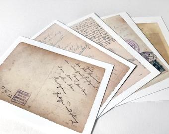 Pack of Five A6 Postcards ft. Vintage Photo & Postcard Back Designs by Alex Hahn