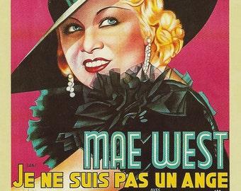 I'm No Angel 4x6 Postcard Mae West