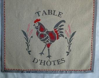 """Linen table runner """"dinner"""" 30 x 150 cm"""