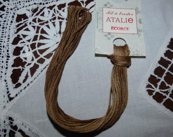 Embroidery FLOSS STITCHED stranded color bark
