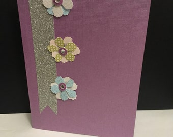 Pretty in Purple any occasion card w/ envelope