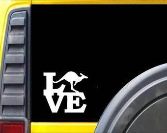 Kangaroo Love Window Decal Sticker *F186*
