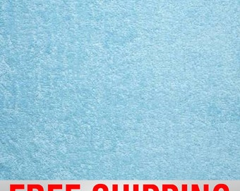 """Terry Cloth Fabric Towel Fabric Baby Blue. 57"""" Wide. 100% Cotton. Free Shipping Style TC-8003"""