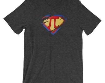 Super Math Hero Symbol Ripped Torn Graphic Short-Sleeve Unisex T-Shirt
