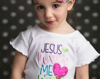 Jesus Loves Me Y'all, Jesus Loves Me, Jesus Love Me Shirt, Christian Shirt, VBS Shirt, Church Shirt, Church Camp Shirt, Girl Birthday Gift