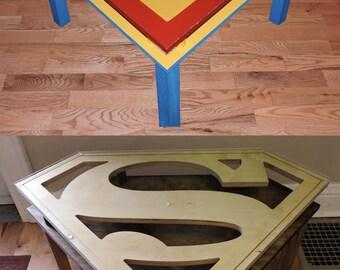 Handmade Superman End Table - 2 Styles!