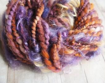 SALE: Handspun Yarn, Merino Art Yarn, Thick and Thin Yarn, knitting supplies crochet supplies, baby prop yarn waldorf doll hair