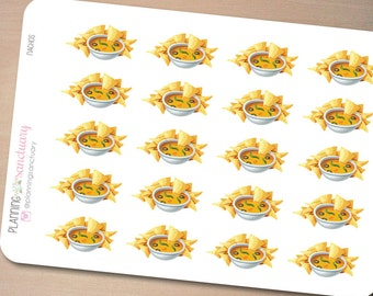 Nachos Planner Stickers Perfect for Erin Condren, Kikki K, Filofax and all other Planners