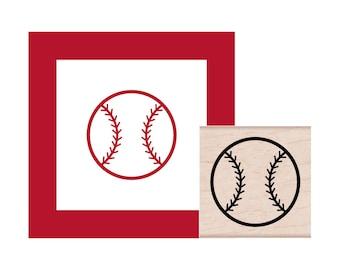 Baseball Rubber Stamp