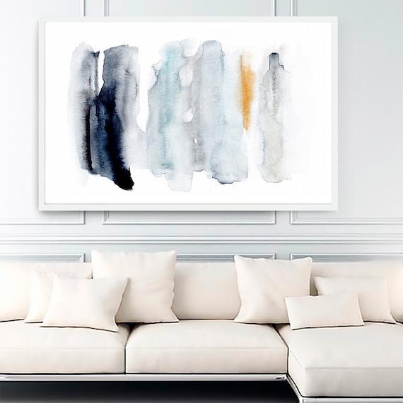 Abstract Art Printable, Abstract Art, Abstract Print, Blue Abstract Art, Modern Art , Contemporary Art, Watercolor Print, Minimalist Art
