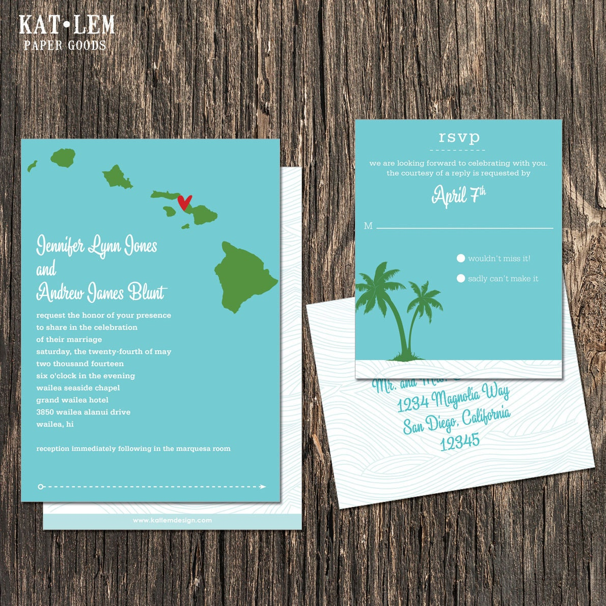Perfect Hawaii Wedding Invitation Crest - Invitation Card Ideas ...