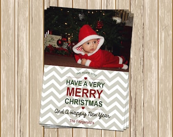 Custom Photograph Christmas Card - Have a very merry Christmas and a happy New Year