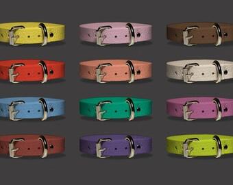 Dog Collar, Ultra Violet, Colors for Spring 2018, Personalized Dog Collar, Pet Collar, Leather Dog Collar, Custom Dog Collar