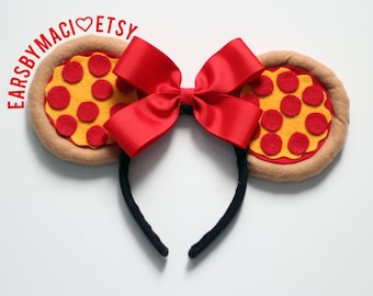 Pizza Inspired Minnie Ears