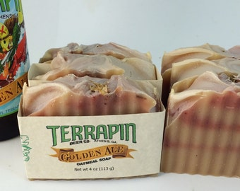 Terrapin™ Golden Ale Oatmeal Soap, Handmade Soap, Beer Soap, Gift for Him, Gift for Dad, Athens Beer Soap, Hops, Terrapin Ale, Man Soap