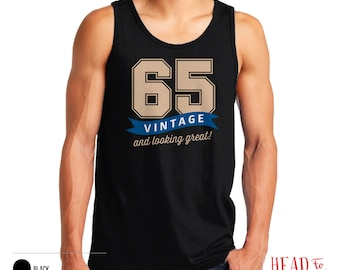 65th Birthday, 1951 Birthday, 65th Birthday Gift, Men's Tank Top, 65th Birthday Idea, 65th Birthday Party, For Fashion Conscious 65 Year Old