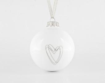 Christmas Decoration with Heart, Big Christmas Ornament, Luxurious Christmas Gift