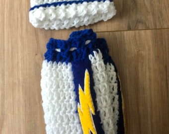 Infant Boy Crocheted Chargers Outfit