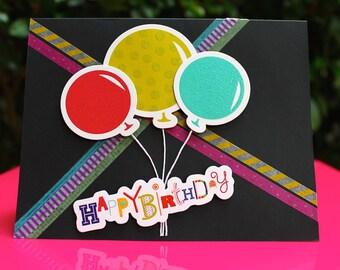 Handmade Card Balloon Happy Birthday