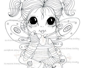 INSTANT DOWNLOAD Digital Digi Stamps Big Eye Big Head Dolls Digi  My - Besties  IMG694 By Sherri Baldy