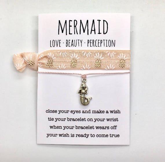 wish bracelet, mermaid jewelry, beach anklet, party favour, friendship bracelet