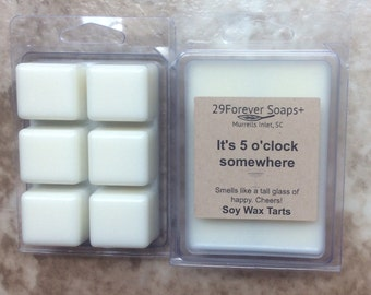 It's 5 o'clock somewhere soy wax tarts - champage soy wax tarts - white wine soap wax tarts - wine soy wax melts