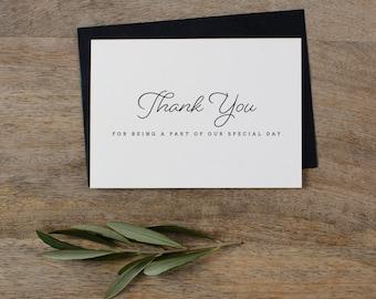 5 X Danke dafür, ein Teil von unseren besonderen Tag - Hochzeit-Dankeschön-Karte - Hochzeitskarte, Hochzeit danken Ihnen Karten, Hochzeit Vielen Dank, K1