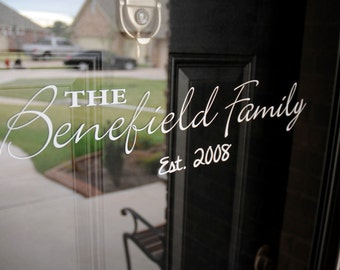 Custom Family Established - Vinyl Decal