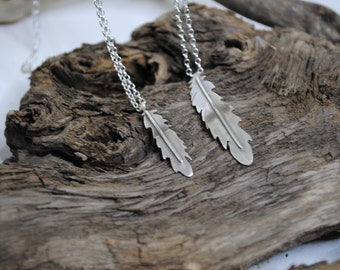 Small Feather Bridesmaids Necklace
