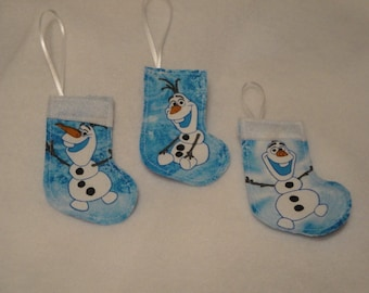 Olaf mini Christmas Stockings - set of 3