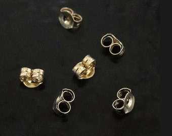 14K Gold Ear Nuts - Friction Ear Nuts, Yellow, White, or Rose Gold