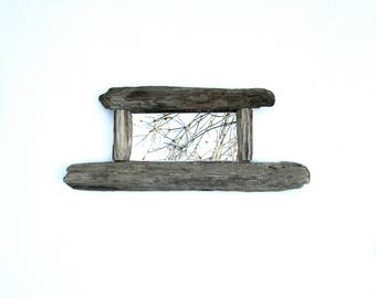 Mirror - Wall Mirror - Nautical Mirror - Small Mirror - Reclaimed Wood  - Rustic Wooden Mirror- Home Decor - Rustic - Driftwood