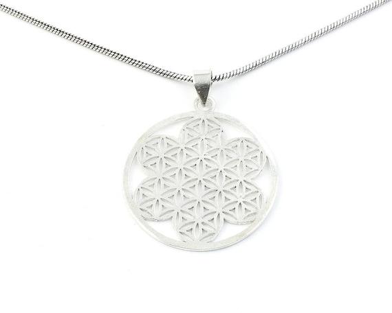 Flower Of Life Necklace, Sacred Geometry Pendant, Geometric, Yoga Jewelry, Festival Jewelry, Boho, Bohemian, Gypsy, Hippie, Spiritual