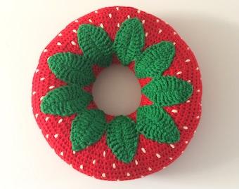 Strawberry Donut Cushion