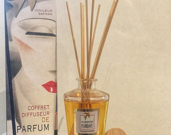 DIFFUSER FRAGRANCE PATCHOULI 100% handmade, luxury home fragrance - box scent with sticks made in france home gift