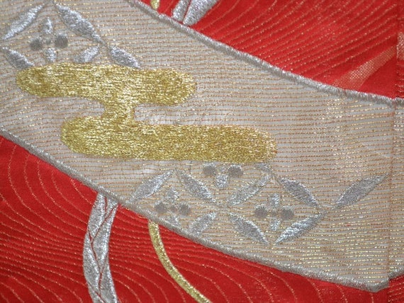 FURISODE and WEDDING Embroidered H76a KIMONO Tanzaku Chrysanthemum Paper 1w1q7Urn
