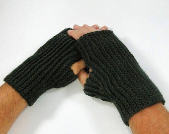 Knit Look Fingerless Glove Crochet Pattern #403 - Mens and Womens Sizes - Fingerless Gloves Crochet Pattern - Instant Download PDF