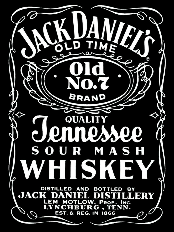 Jack Daniels-Schild Vintage Retro Shabby-Chic
