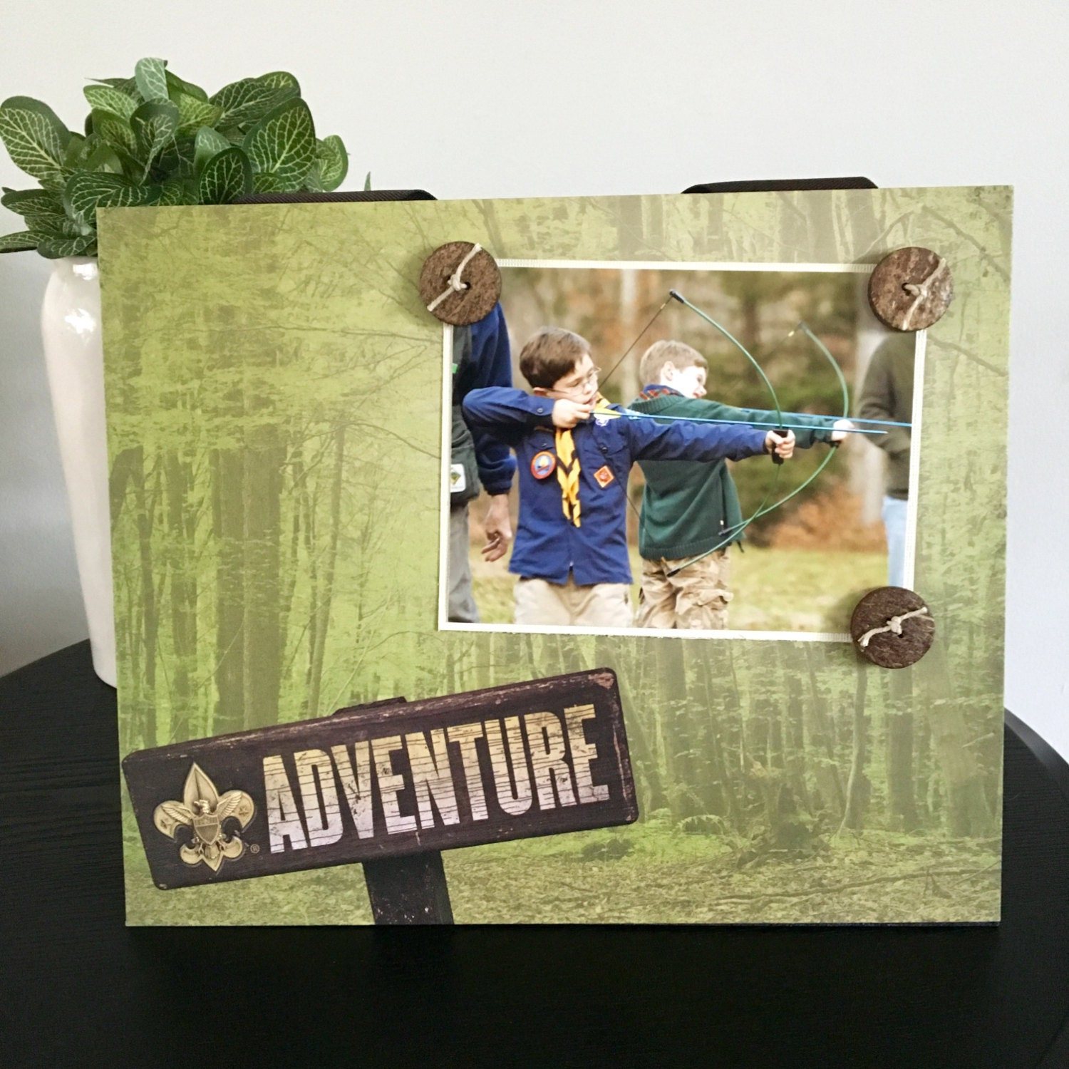 Boy Scout Picture Frame Magnetic Gift Home Decor Photo 5 x 7 9