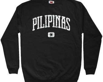 Pilipinas Sweatshirt - Men S M L XL 2x 3x - Crewneck Philippines Shirt - Filipino - 4 Colors